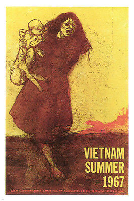 vietnam summer 1967 VINTAGE POLITICAL POSTER united states 1967 24X36 rare!