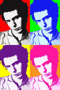 SID VISCIOUS singer celebrity POP ART POSTER multiple images 24X36 ELECTRIC