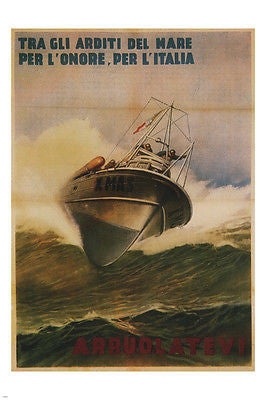 Among the boldest of the Sea Italy's honor poster G Boccasile Italy '44 24X36