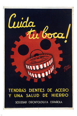 Take care of your mouth VINTAGE AD POSTER Anibal Tejada Spain 1930 24X36