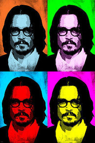 Actor JOHNNY DEPP Celebrity Pop Art Poster MULTIPLE IMAGES Bright 24X36 New
