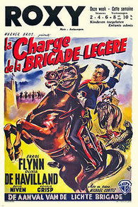 1936 CHARGE OF THE LIGHT BRIGADE movie poster FLYNN & DEHAVILLAND rare 24x36