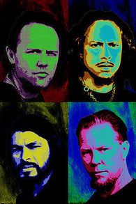 Mettalica CELEBRITY BAND pop art poster MULTIPLE IMAGES 24X36 colorful NEW