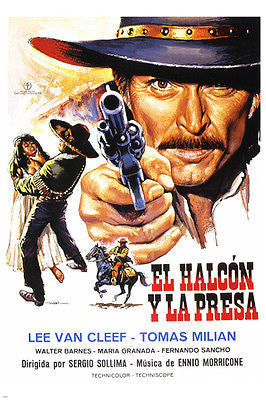 BIG gundown MOVIE poster SPANISH version 24X36 LEE VAN CLEEF action 24X36