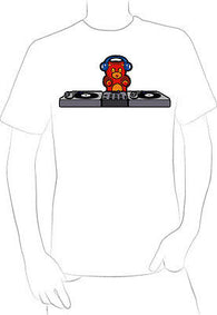 ADORABLE TEDDY BEAR DJ CARTOON T-SHIRT NEW HOT EXCLUSIVE  - A10