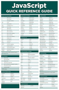 javascript QUICK REFERENCE POSTER computer programming cheat sheet 24X36