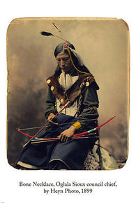 bone necklace OGLALA SIOUX COUNCIL CHIEF art poster 24x36 by HEYN PHOTO 1899