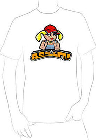 CUTE CARTOON GIRL W/ BASEBALL CAP POUNDING FISTS T-SHIRT NEW HOT UNIQUE  - A10