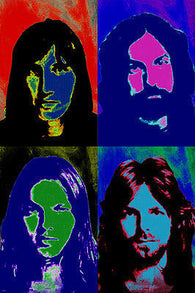 world famous PINK FLOYD celebrity BAND multiple image POP ART POSTER 24X36