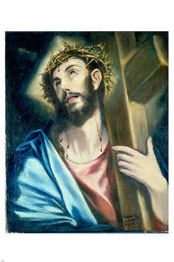 JESUS CHRIST POSTER Carrying the Cross El Grieco 1580 Religion NEW 24x36