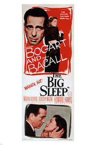 1946 BOGART & BACALL in the big sleep MOVIE POSTER film noir CRIMINAL 24x36