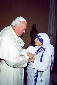 JOHN PAUL 2 & MOTHER TERESA poster 24X36 historic high quality PICTURE
