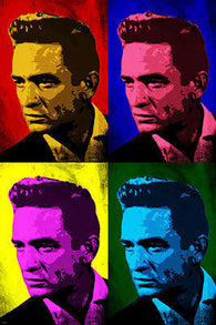 JOHNNY CASH Singer Celebrity POP ART Poster Multiple Image 24X36 Classic