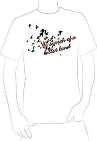 Birds In Flight Poetic Design t-shirt in search of migration art original
