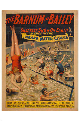 THE BARNUM & BAILEY vintage circus poster 24X36 CLASSIC ERA celebration
