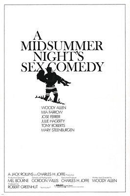 WOODY ALLEN A Midsummer Night SEX COMEDY movie poster MIA FARROW 24X36