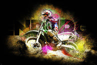 ENDURO MOTORCYCLE RACING poster colorful sporty IN MOTION bright new 24x36