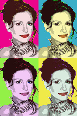 celebrity actress JULIA ROBERTS multiple image POP ART POSTER soft 24X36