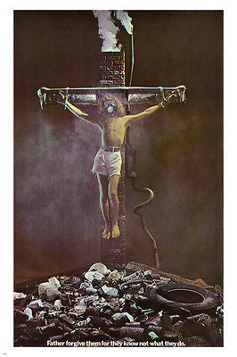 FATHER FORGIVE THEM for they know not what they do POSTER USA 1970 24X36