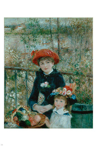 the two sisters on the terrace pierre-august renoir FINE ART POSTER 24X36