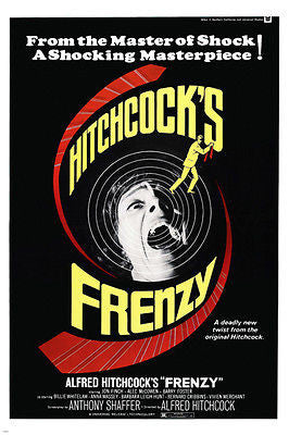 ALFRED HITCHCOCK'S FRENZY movie poster JON FINCH suspense MASTERPIECE 24X36