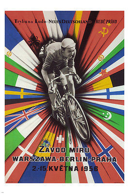 The International Peace Race Czech Republic POSTER 1956 24X36 Bicycle