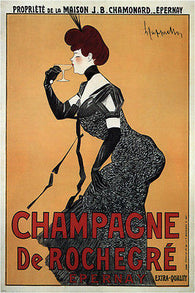 CHAMPAGNE maurice réalier-dumas FRANCE vintage AD poster RARE NEW 24X36
