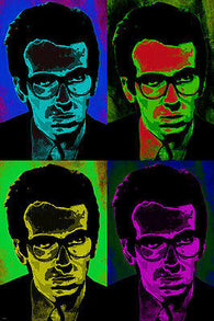 ELVIS COSTELLO celebrity SINGER pop art POSTER multiple images COLORFUL 24X36