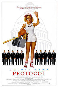comedy PROTOCOL movie poster GOLDIE HAWN sports WASHINGTON suits CUTE 24X36