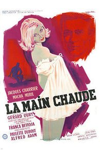 1959 FRENCH LA MAIN CHAUDE movie poster jacques CHARRIER macha MERIL 24X36