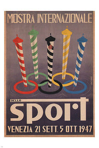 International Exhibition of Sports VINTAGE POSTER Graziano ITALY 1947 24X36