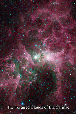 THE TORTURED CLOUDS OF ETA CARINAE hubble space telescope image POSTER 24X36