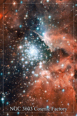 NGC 3603 cosmic factory SPACE IMAGE POSTER 24X36 giant stellar nursery