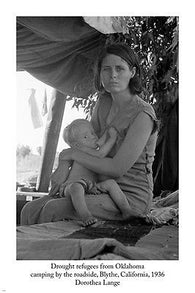 DOROTHEA LANGE 1936 Drought Refugees From Oklahoma PHOTO POSTER 24X36