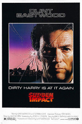 SUDDEN impact MOVIE poster CLINT eastwood as DIRTY harry ACTION crime 24X36