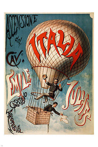 1890 Ascensione del cavaliere VINTAGE BALLOON POSTER Emile Julhes 24X36 HOT