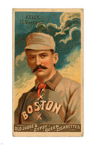 Boston Beaneaters Catcher KING KELLY Sports Poster 1888 24X36 BASEBALL