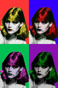 ACTRESS michelle pfeiffer CELEBRITY pop art poster MULTIPLE IMAGES 24X36
