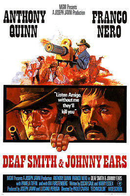 ANTHONY QUINN FRANCO NERO Death Smith & Johnny Ears MOVIE poster GUNS 24X36