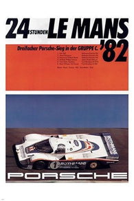 24 RACE LE MANS '82 precision racing poster COLLECTORS 24X36 BOLD