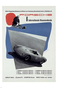 1952 racing VINTAGE SPORTS POSTER sleek signature style 24X36 BOLD