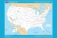 USA NATIONAL park service lands POSTER 24X36 CLEAR easy-to-use EDUCATIONAL