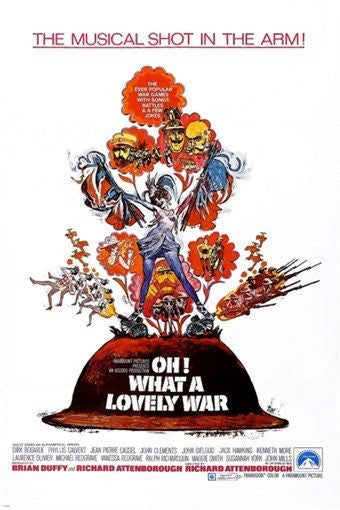 richard attenborough's OH WHAT A LOVELY WAR movie poster JOHN GIELGUD 24X36