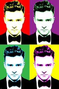 Singer JUSTIN TIMBERLAKE Celebrity POP ART Poster Multiple Images 24X36