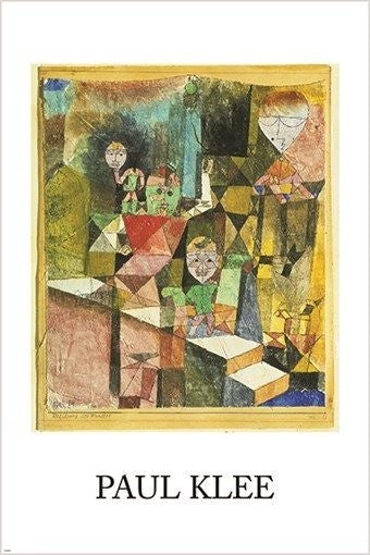 INTRODUCING THE MIRACLE vintage art poster PAUL KLEE symbolism cubism 24X36