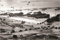 historical photo poster D-DAY POST INVASION 1944 military political 24X36