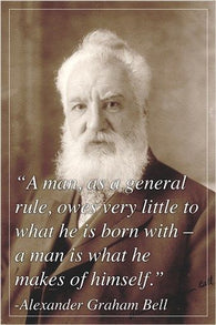 ALEXANDER GRAHAM BELL scientist inventor INSPIRING QUOTE POSTER 24X36 new