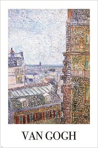 VAN GOGH sight of paris from THE ROOM OF VINCENT vintage art poster 24X36