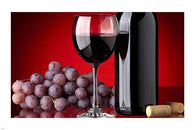 contemporary art photo poster RED WINE BOTTLE grapes SOPHISTICATED 24X36