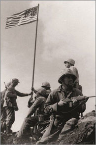 first IWO JIMA FLAG RAISING vintage war poster HISTORIC POLITICAL 24X36 new